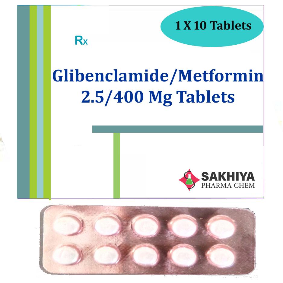 Glibenclamide 2.5mg + Metformin 400mg Tablets