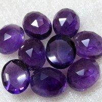 5x7mm African Amethyst Rose Cut Oval Loose Gemstones