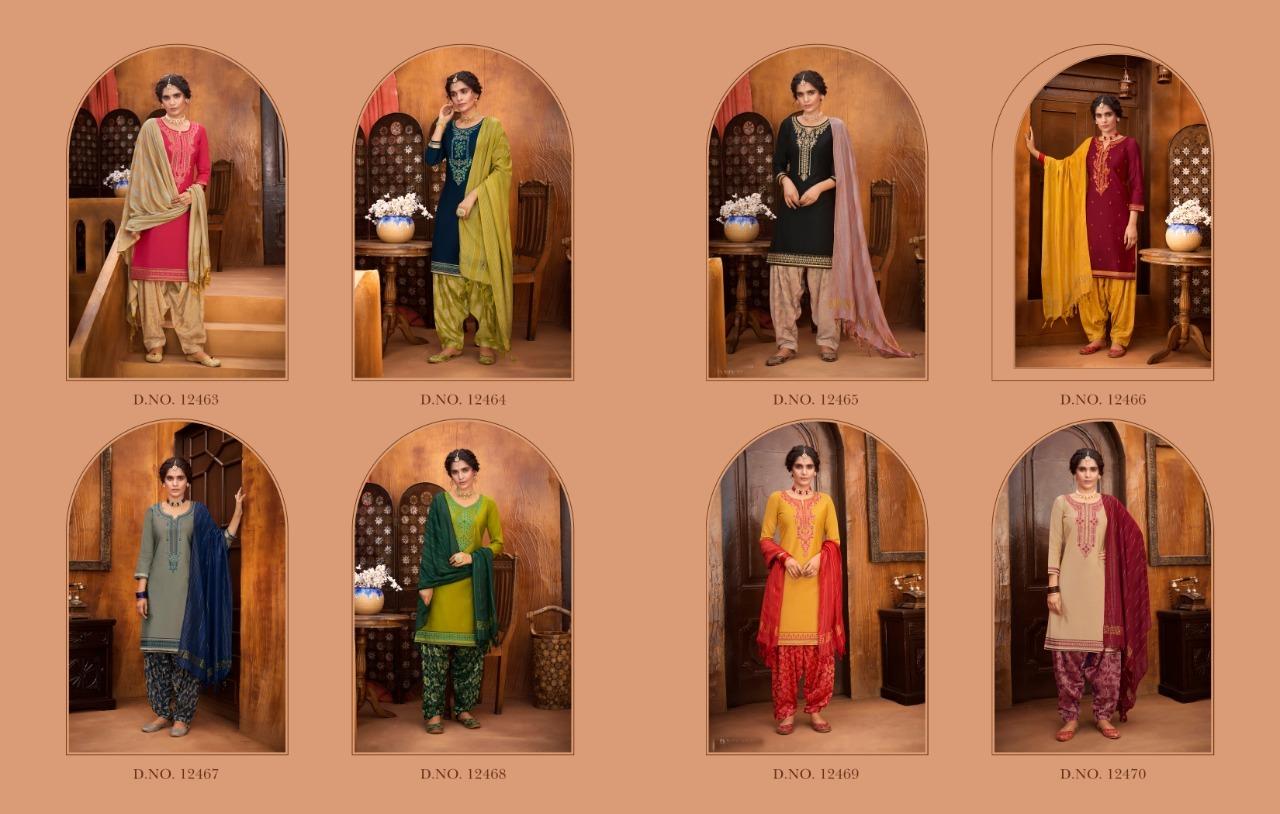 Kalaroop Rivaaz Patiyala Vol 6 Jam Silk With Work Readymade Suit Catalog