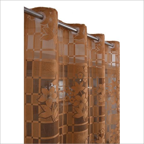 Door Brown Net Curtains
