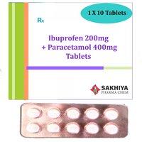 Ibuprofen 200mg + Paracetamol 400mg Tablets