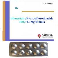 Irbesartan 300mg + Hydrochlorothiazide 12.5mg Tablets