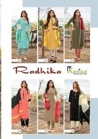 RADHIKA Premium Rayon Kurtis With Dupatta