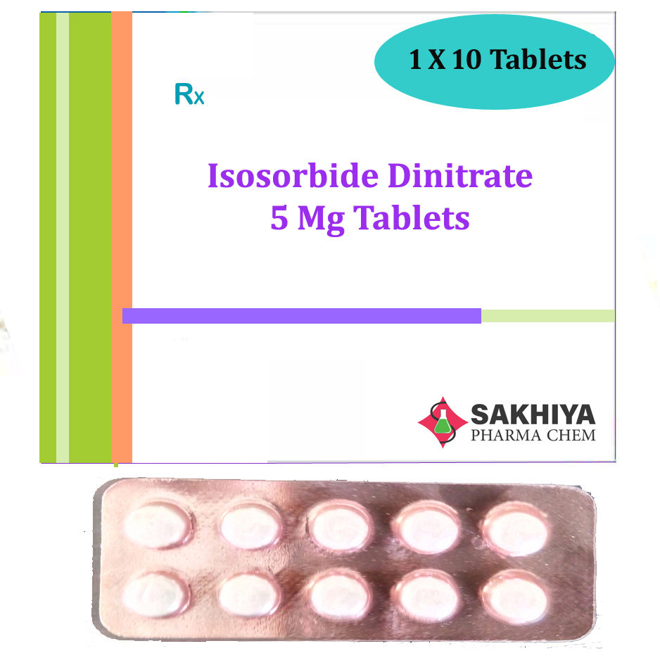 Isosorbide Dinitrate 5mg Tablets