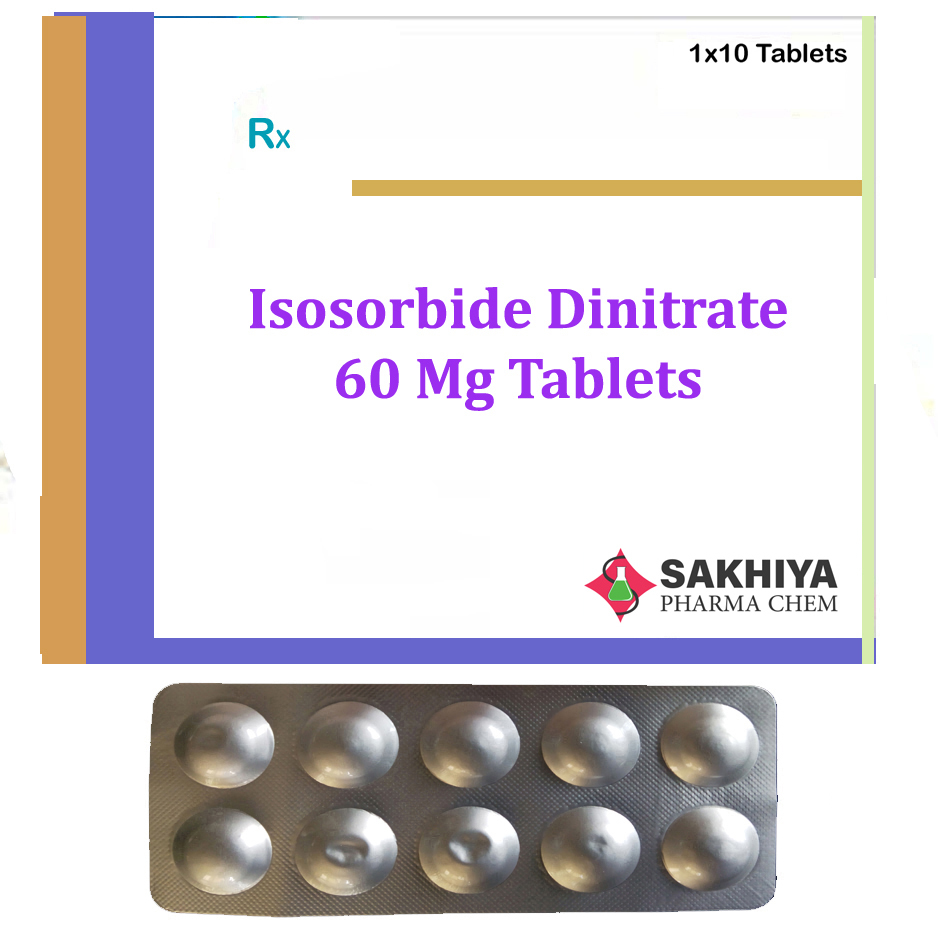 Isosorbide Dinitrate 60mg Tablets