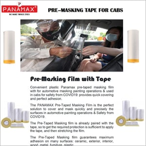 Pre-masking Tape For Cabs Safety From Covid-19