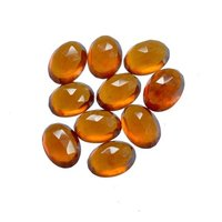 8x10mm Hessonite Garnet Rose Cut Oval Loose Gemstones