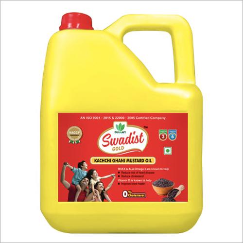 5 Ltr Tin Gold Mustard Oil