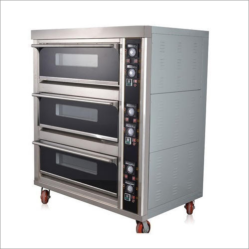Stainless Steel Three Deck Bakery Oven