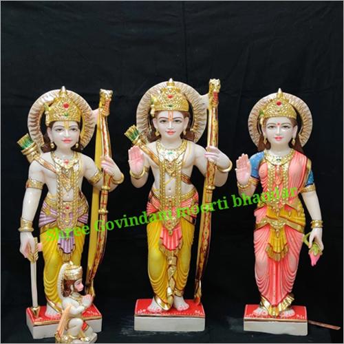 Marble Ram Darbar Statue Set