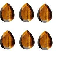 5x7mm Tiger Eye Faceted Oval Loose Gemstones