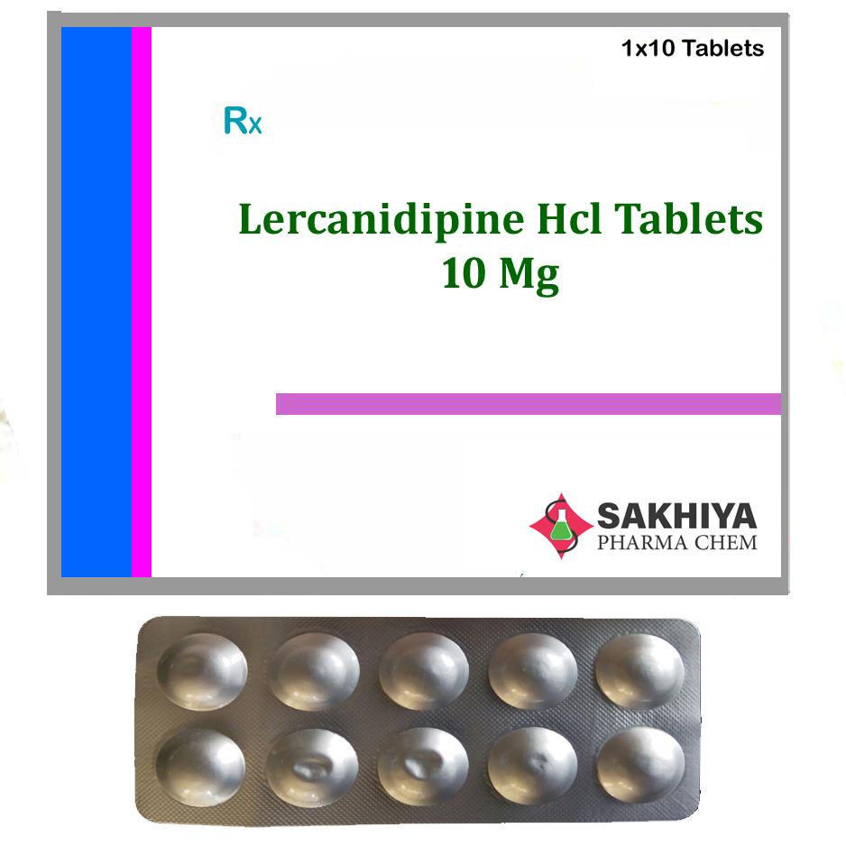 Lercanidipine Hcl 10mg Tablets
