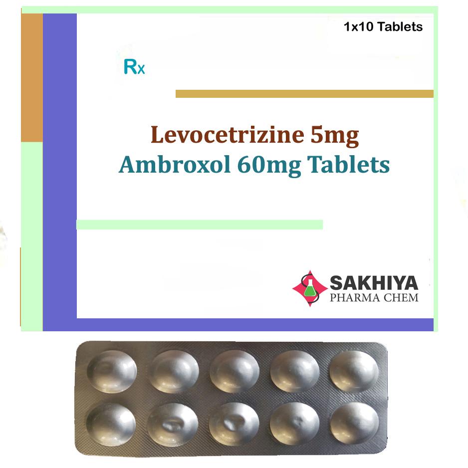 Levocetirizine 5mg + Ambroxol 60mg Tablets
