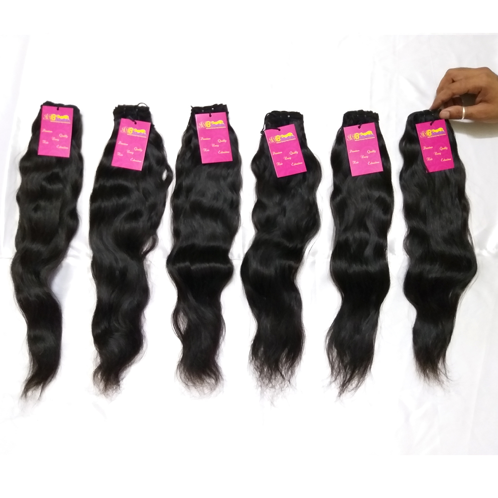 Top Quality Raw Unprocessed Indian Virgin Single Donor Human Hair Weft Bundles
