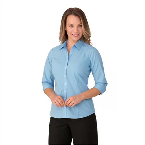 Ladies Pippa Check Shirt 3-4 Sleeve Blouse