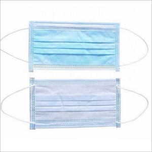 3 Ply Face Mask With Nose Pin