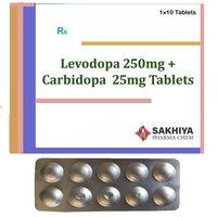 Levodopa 250 mg+ Carbidopa 25mg Tablets