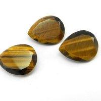7x10mm Tiger Eye Faceted Pear Loose Gemstones