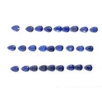 3x5mm Blue Kyanite Faceted Pear Loose Gemstones