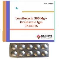 Levofloxacin 500mg + Ornidazole 1gm Tablets
