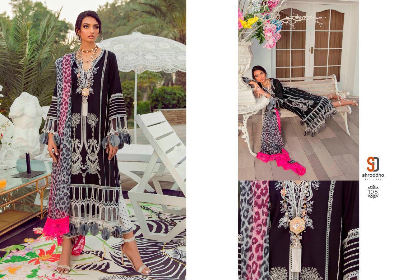 Shraddha Designer Sana Safina Printed Collection Lawn Pakistani Suit Catalog