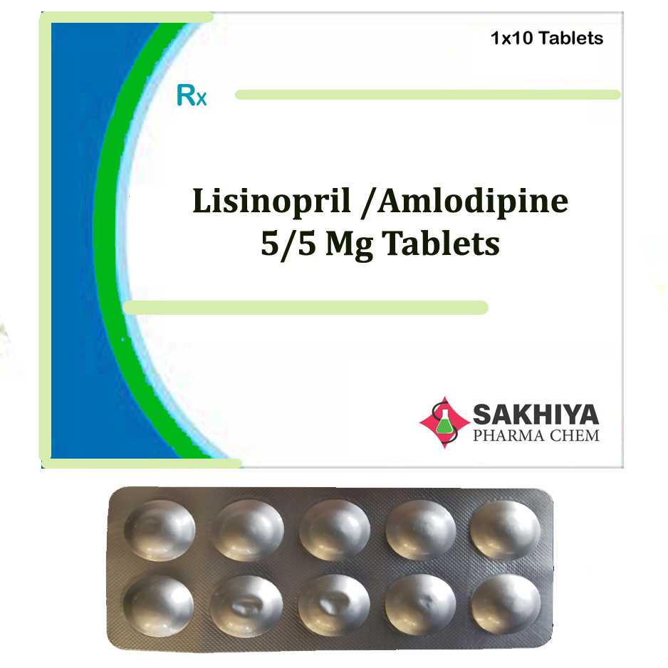 Lisinopril 5mg + Amlodipine 5mg Tablets