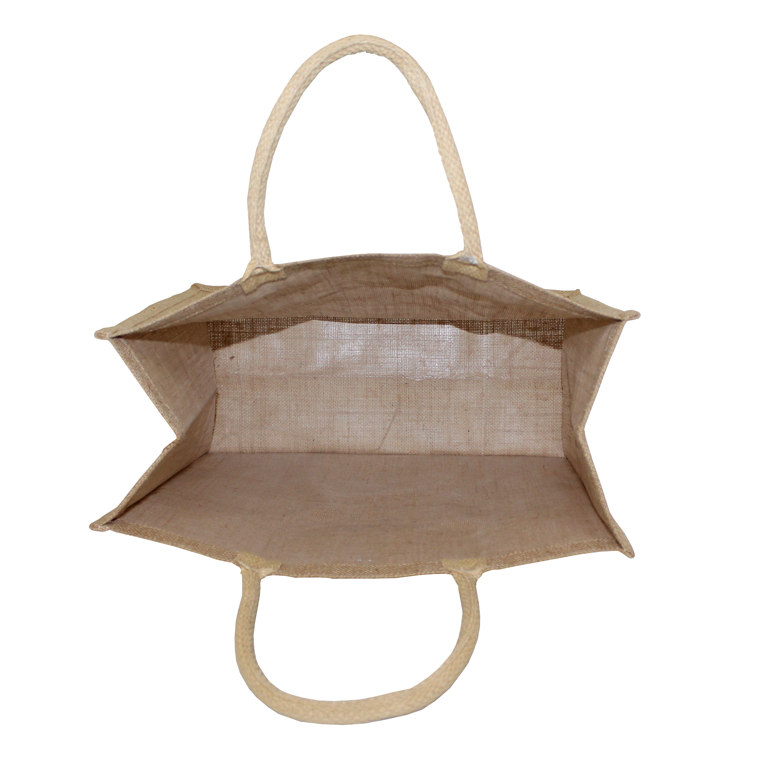 PP Laminated Jute Tote Bag With Rope Handle
