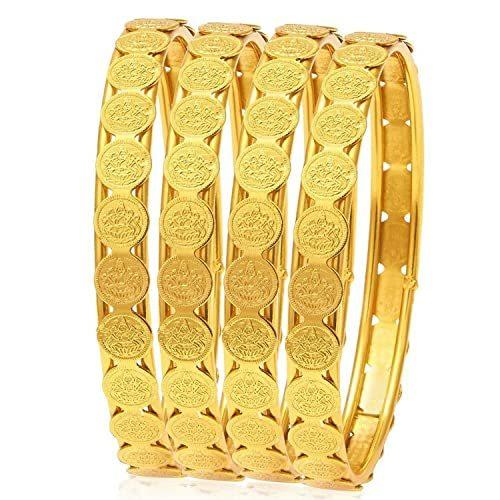 Yuktha Eternals Fashion Glamorous Lakshmi Coin Bangles for Women