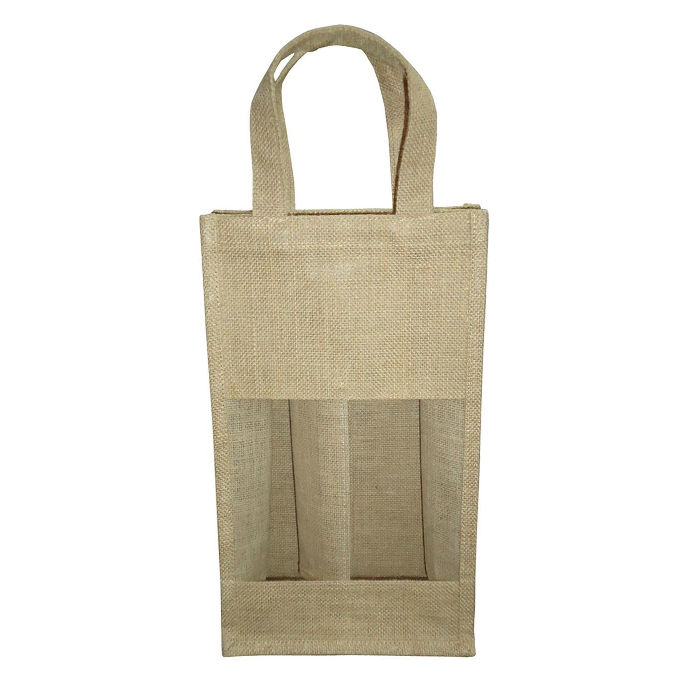 PP Laminated Two Bottle Jute Bag