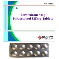 Lornoxicam 4mg + Paracetamol 325mg Tablets