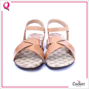 Casual Open Toe Flat Ladies Sandals With Elastic Ankle Strap