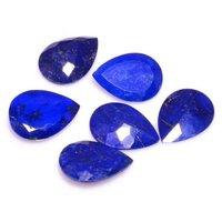 5x7mm Lapis Lazuli Faceted Pear Loose Gemstones