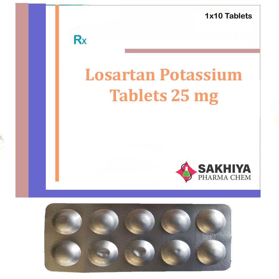 Losartan Potassium 25 mg Tablets