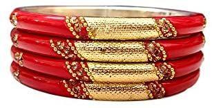Yuktha Jaipur Handmade Multi-Design with Stone Work Bangles