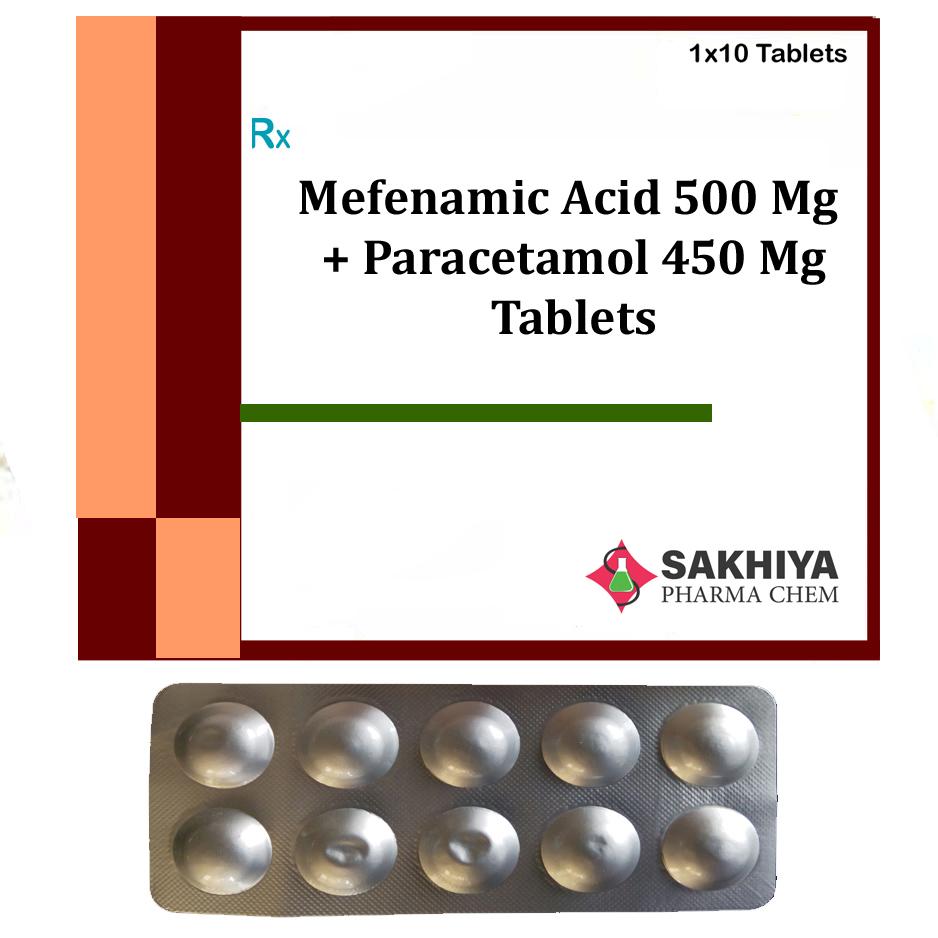 Mefenamic Acid 500mg + Paracetamol 450mg Tablets