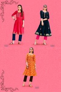 Summer Beauty Vol-1 Rayon Cotton Print Kurtis