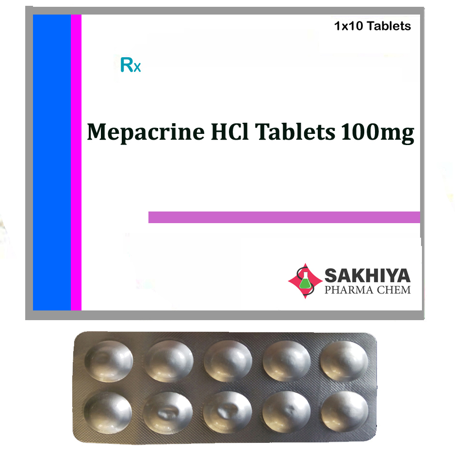 Mepacrine hcl 100mg Tablets