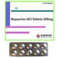 Mepacrine hcl 300mg Tablets