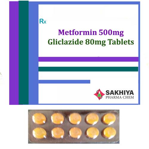 Metformin 500mg + Gliclazide 80mg Tablets