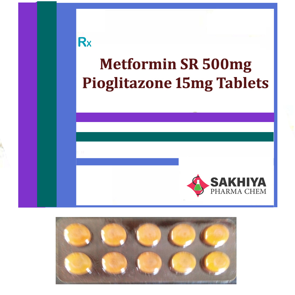 Metformin Sr 500mg + Pioglitazone 15mg Tablets