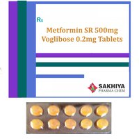 Metformin Sr 500mg + Voglibose 0.2mg Tablets
