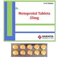 Metoprolol 25mg Tablets