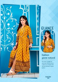 Gold Star Rayon 14 Kg Long Kurtis