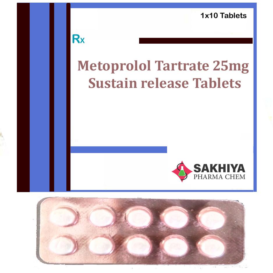 Metoprolol Tartrate 25mg Sr Tablets
