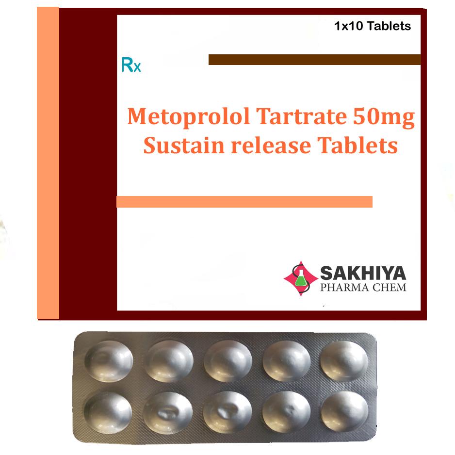Metoprolol Tartrate 50mg Sr Tablets