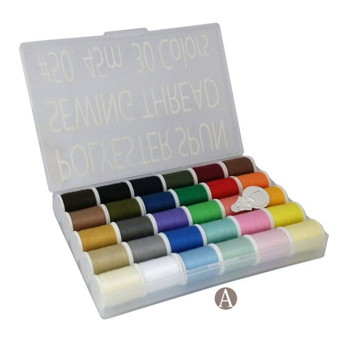 30 Colors Handy Polyester Sewing Thread Set 45m