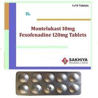 Montelukast 10mg + Fexofenadine 120mg Tablets