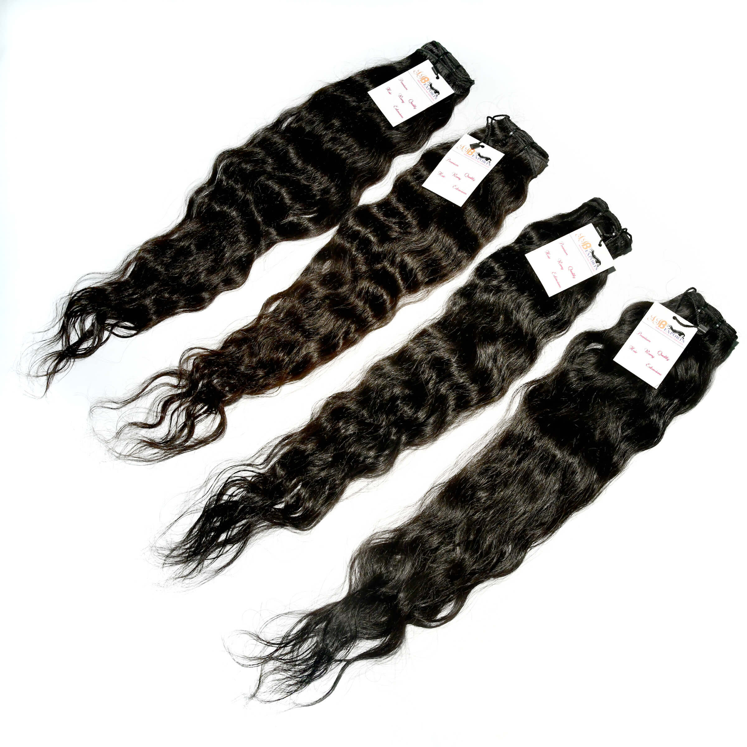 Indian Natural Cuticle Aligned Raw Virgin Remy Curly Human Hair Extensions