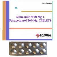 Nimesulide100mg + Paracetamol 500mg Tablets