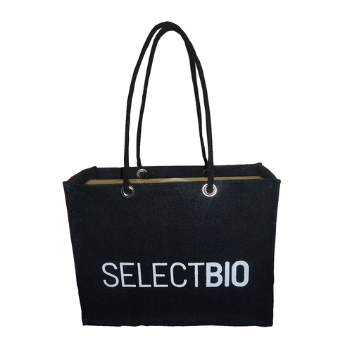 PP Laminated Jute Gift Bag With Cotton Rope Handle